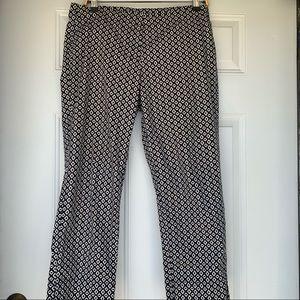 •CAbi• Geometric Print Cropped Pants - Size 8